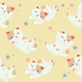 Cat pattern set background