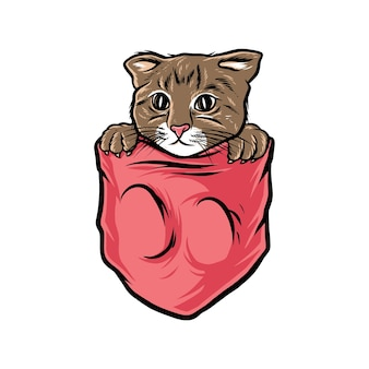 Cat pocket cute and funny