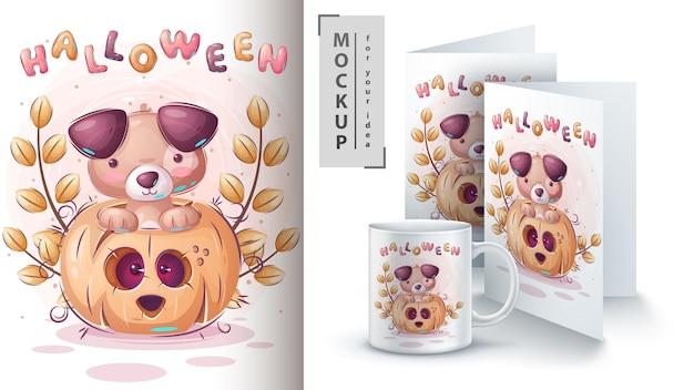 Cat in pumpkin poster and merchandising