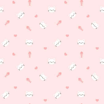 Cat seamless pattern background