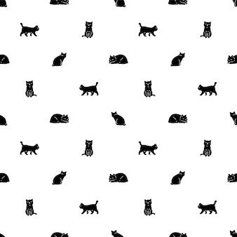 Кошка бесшовные модели ситцевый котенок