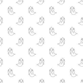고양이 원활한 패턴 할로윈 유령 유령