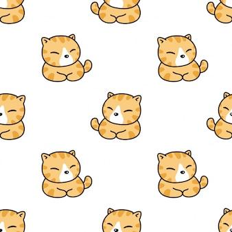 Кот котенок бесшовный фон