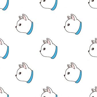Cat seamless pattern kitten illustration