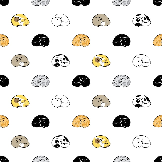 고양이 완벽 한 패턴 고양이 자 만화 캐릭터
