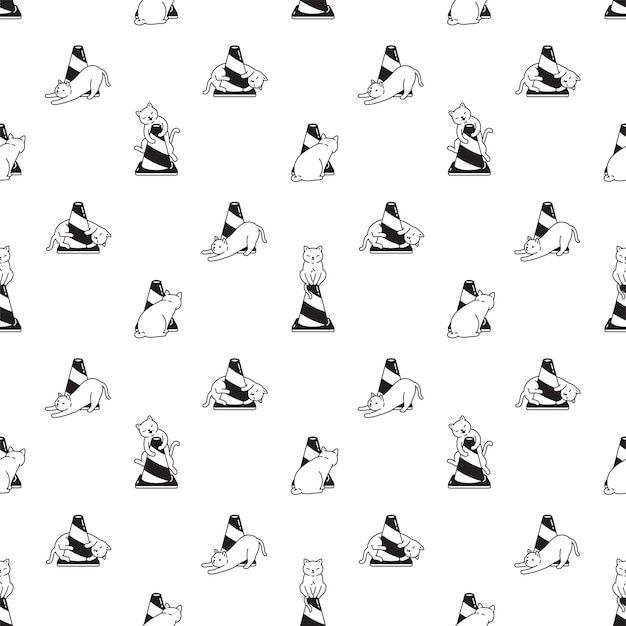 고양이 원활한 패턴 새끼 고양이 트래픽 콘