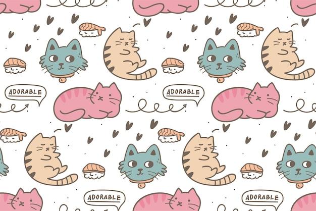 고양이 완벽 한 패턴