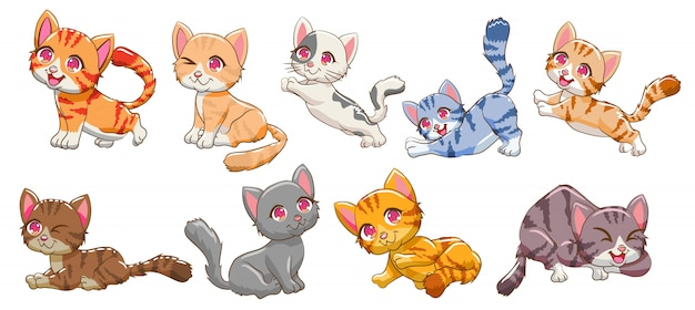 Cat  set clipart