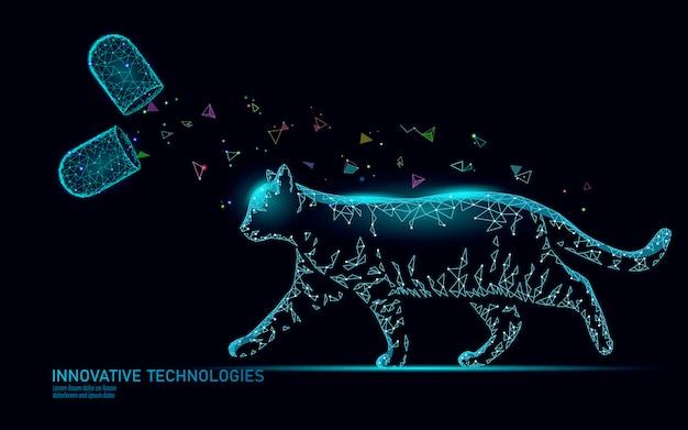 猫のシルエットカプセル薬物治療
