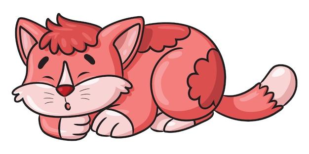 Кот спит мультфильм