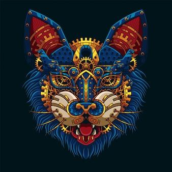 Cat steampunk illustration
