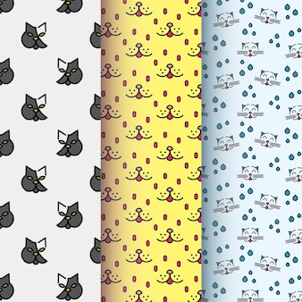 Cat symbol pattern collection