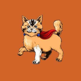 Кот герой иллюстрации