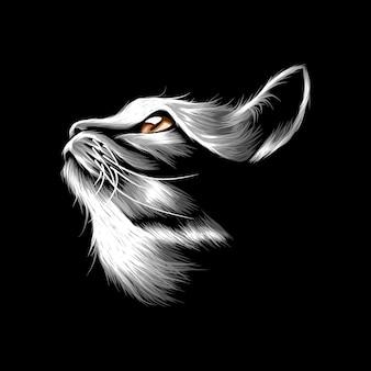 고양이 벡터 일러스트 레이 션 추상적인 디자인