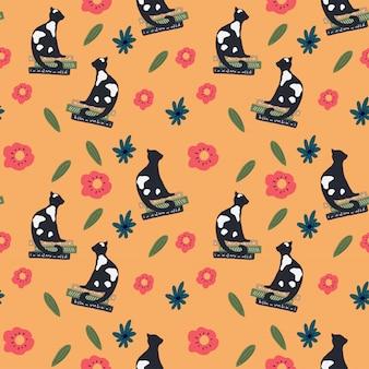 Cat vector pattern