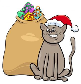 クリスマスプレゼントの猫