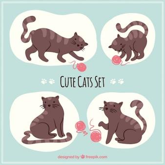 Симпатичные набор cat