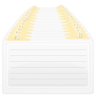 Catalog in alphabetical order vector illustration