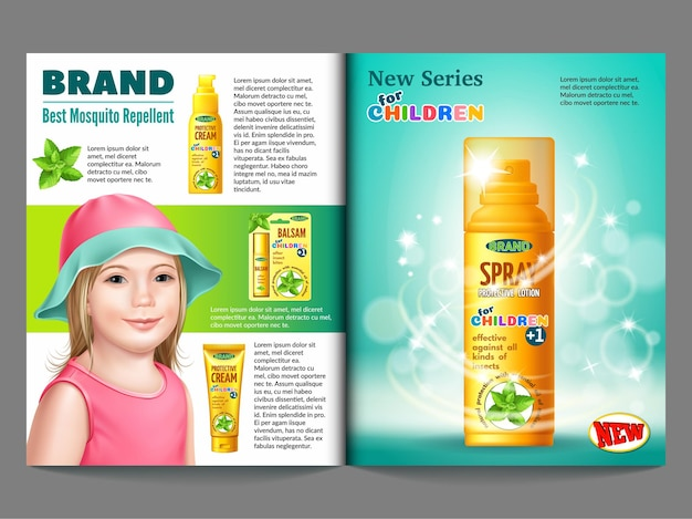 Catalog of goods from insects for children