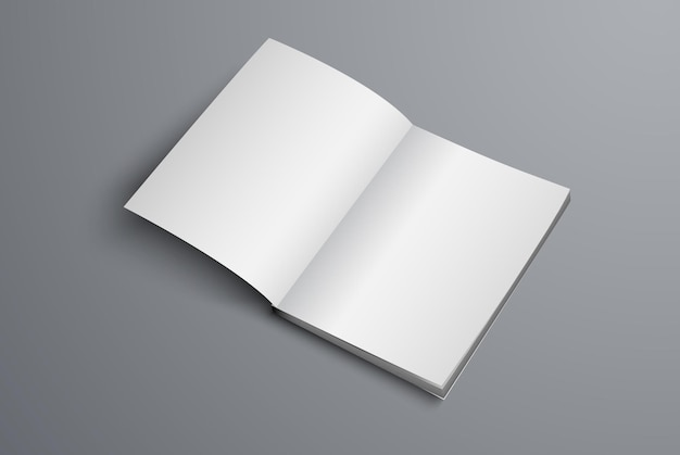 Catalog is open on the first page. a realistic brochure template