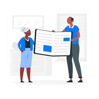 Illustrazione del concetto di catalogo