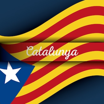 Catalonia the national flag europe spain