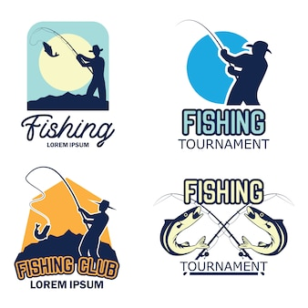 Catching fish logo