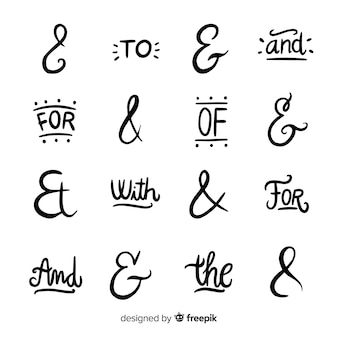 Catchphrases and ampersand collection