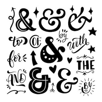 Catchword and ampersand set