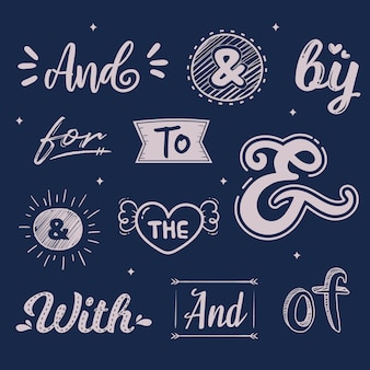 Catchword and ampersand wedding collection