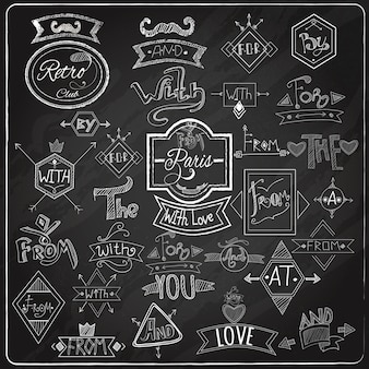 Catchwords blackboard chalk