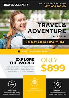 Яркий туристический рекламный флаер