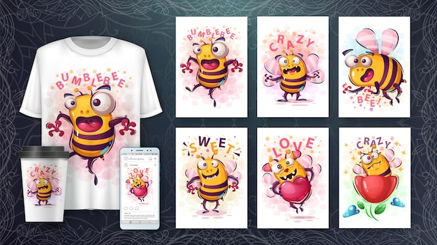 Cate bee illustration and merchandising
