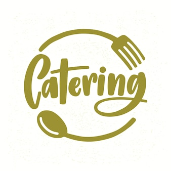 Catering company logo with elegant lettering