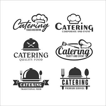 Кейтеринг дизайн премиум коллекция логотип