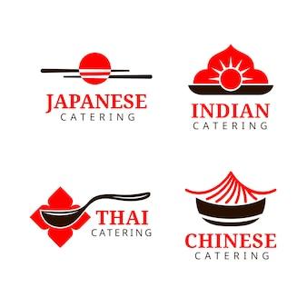 Коллекция шаблонов логотипа кейтеринга