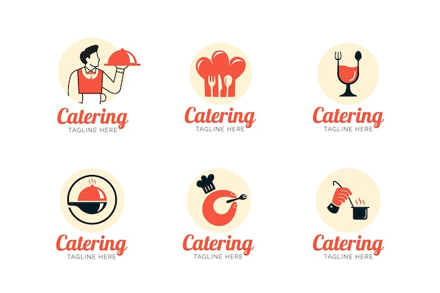 Catering logo template collection