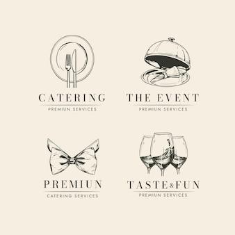 Набор шаблонов логотипа кейтеринга