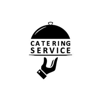 ケータリングサービスのロゴ。孤立した白い背景の上のベクトル。 eps10。