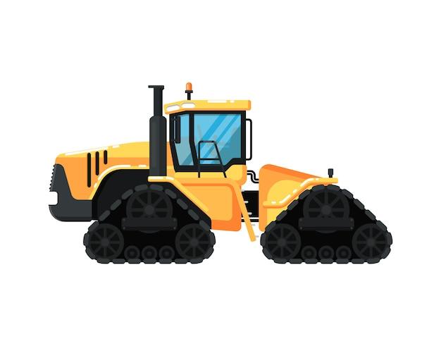 Caterpillar современный трактор иллюстрации