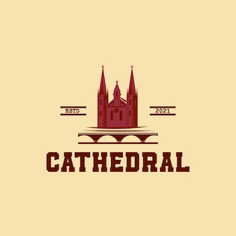 Cathedral palace silhouette logo design vector,vector of classic castile hall logo design eps format, suitable for your design needs, logo, illustration, animation, etc.