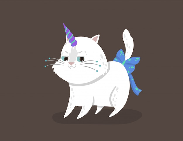 Caticorn shows the emotion of cunning