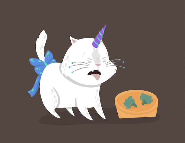 Caticorn shows the emotion of disgust