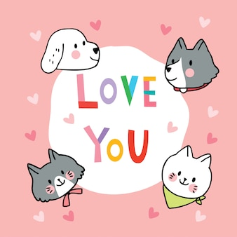 Кошки и собаки каракули