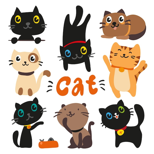 cat vectors photos and psd files free download rh freepik com vector cats free vector cathodic protection