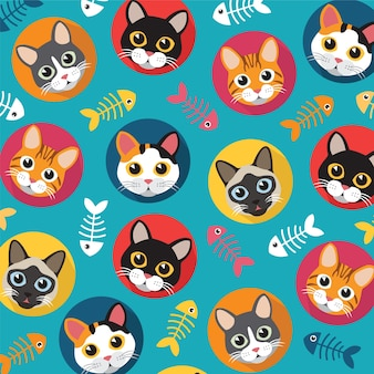 Cats and fishbone pattern