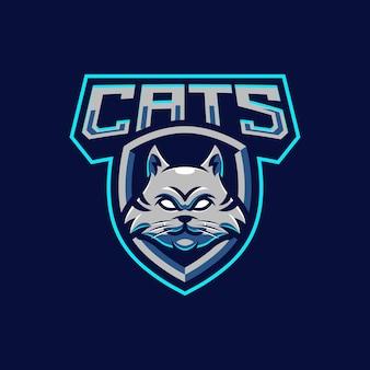猫のマスコットのロゴデザイン