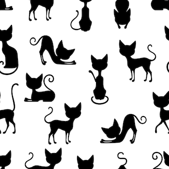 Cats seamless pattern