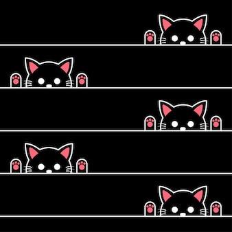 猫のシームレスパターン
