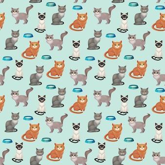 Кошки бесшовные модели